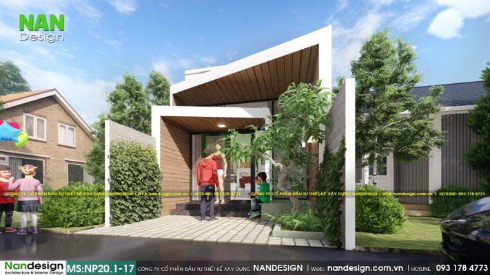 Thiết kế mặt tiền nhà 4m mẫu nhà cấp 4 4x15m tuy nhỏ nhưng phần không gian xanh luôn được tối ưu