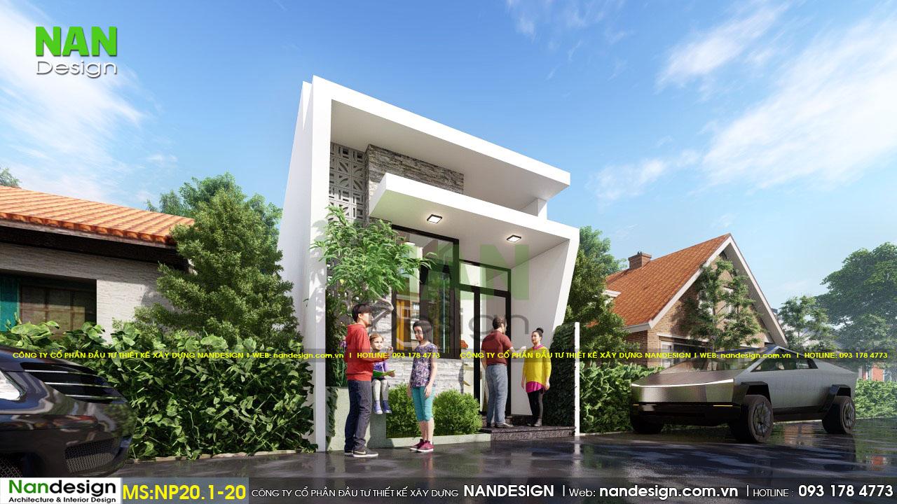 Mẫu Nhà Đẹp 40m2 4x10m Đẹp Từ Mọi Góc Nhìn