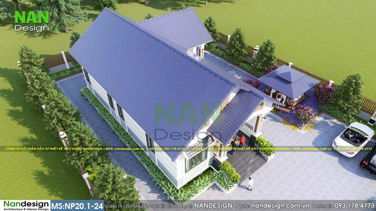 Tổng Thể Sân Vườn Và Nhà Cấp 4 Đẹp Xanh Ngát