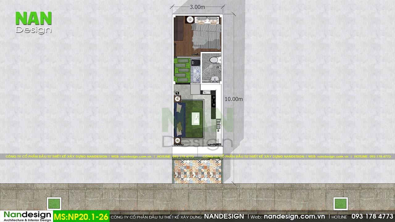 Bản Vẽ Thiết Kế Nhà 30m2 Mẫu Nhà Ống 3x10m