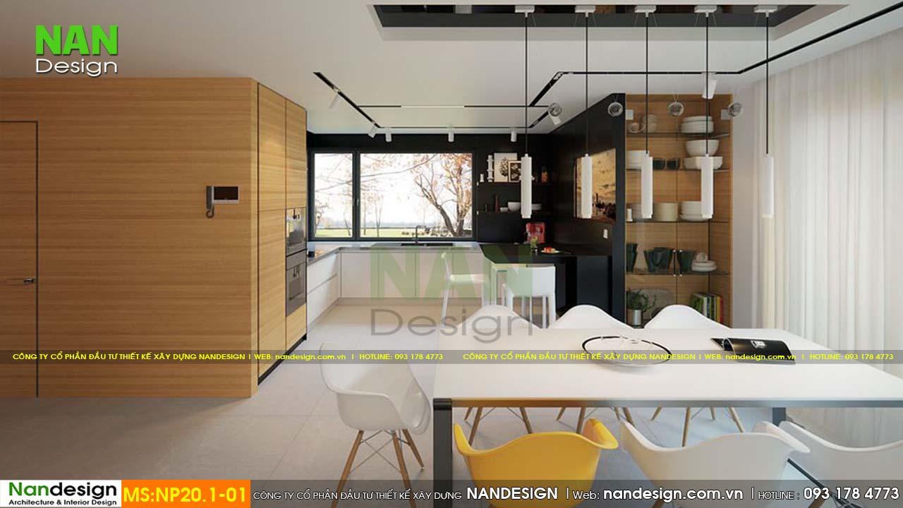 Phòng bếp tone màu trắng đảm bảo được vẻ đẹp sang trọng và tinh tế cho gia chủ.