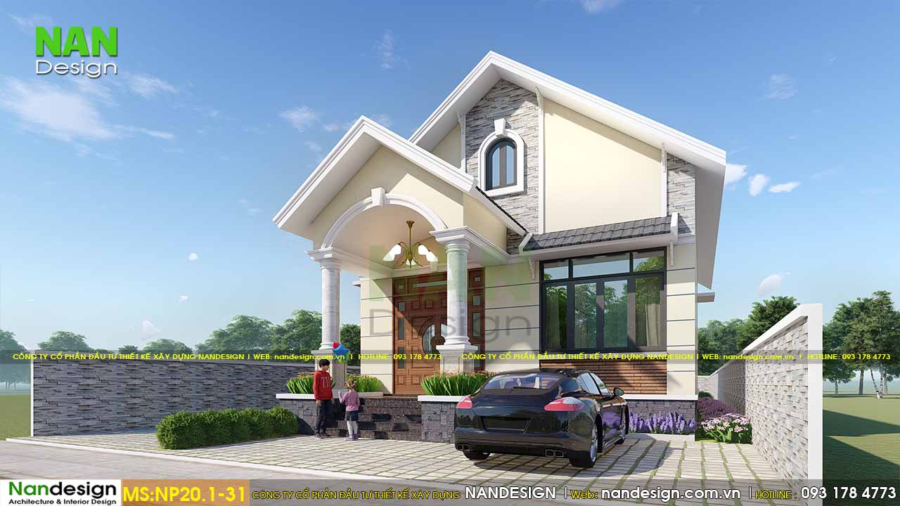 Mẫu Nhà Cấp 4 8x12m Mái Thái Với Hình Khối Hài Hòa