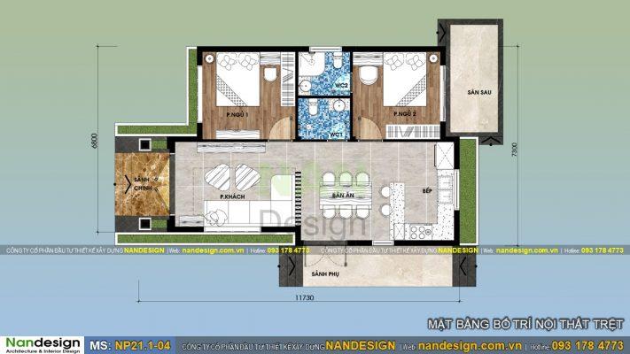 Bản Vẽ Mặt Bằng Mẫu Nhà Cấp 4 Mái Thái 7x12m