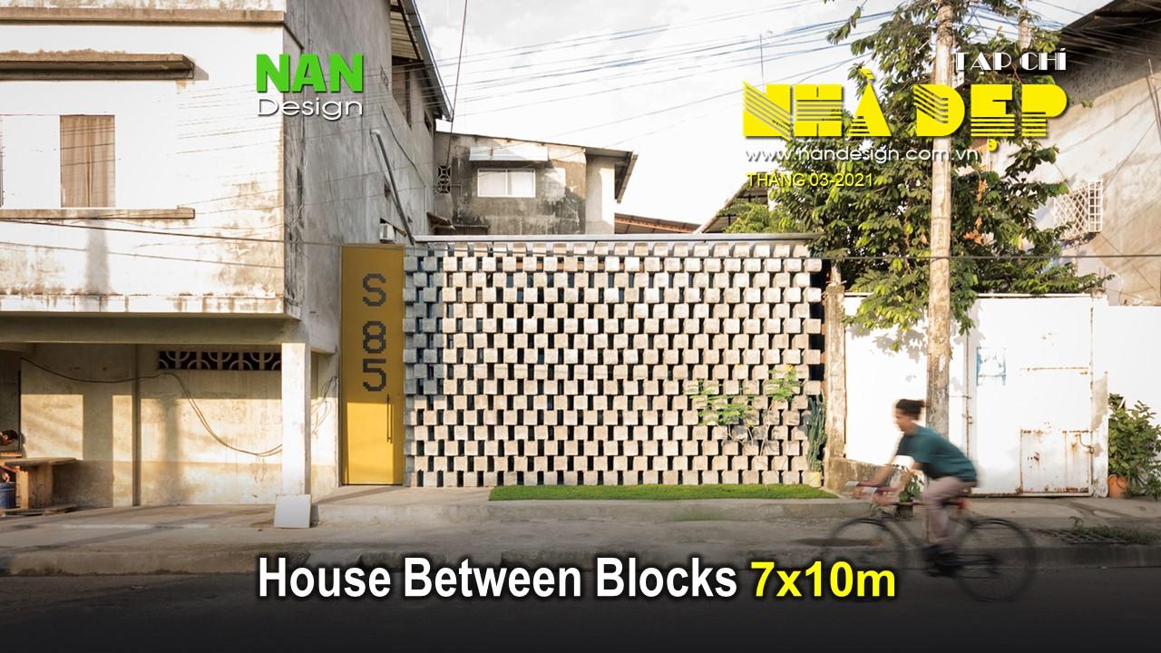 House Between Blocks 7x10m - Nhà Cấp 4 Đơn Giản Với Gạch Block