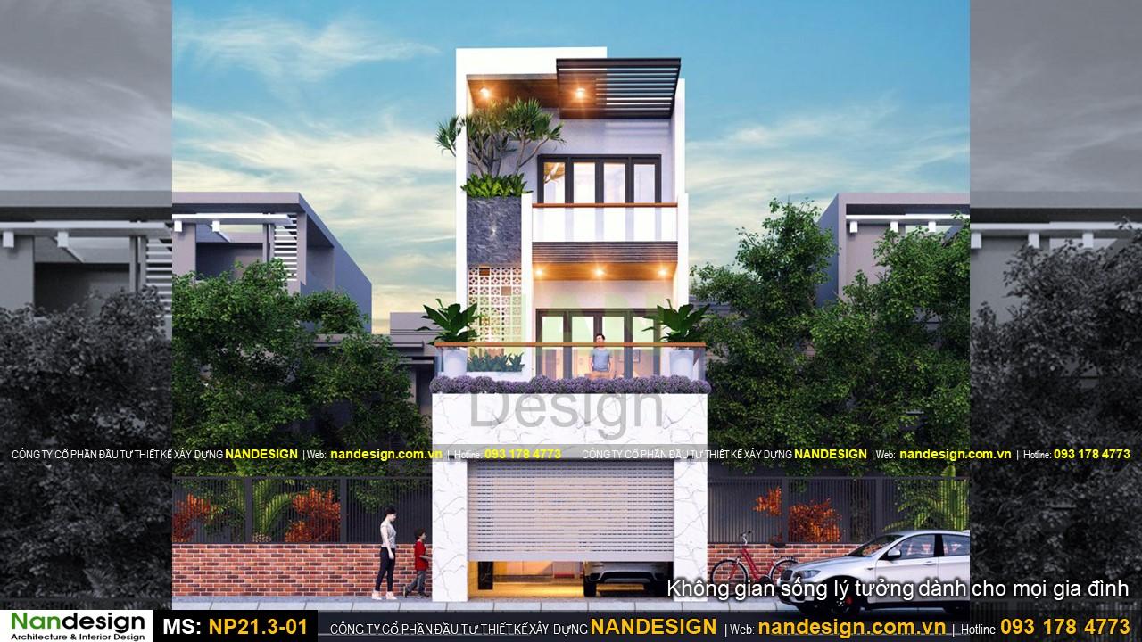 Mặt tiền 5m thiết kế mẫu nhà đẹp 3 tầng 5x16 đẹp hiện đại và tinh tế
