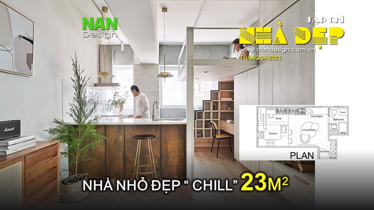 Căn hộ 23 m2 có góc 'chill' cho gia chủ yêu nhạc