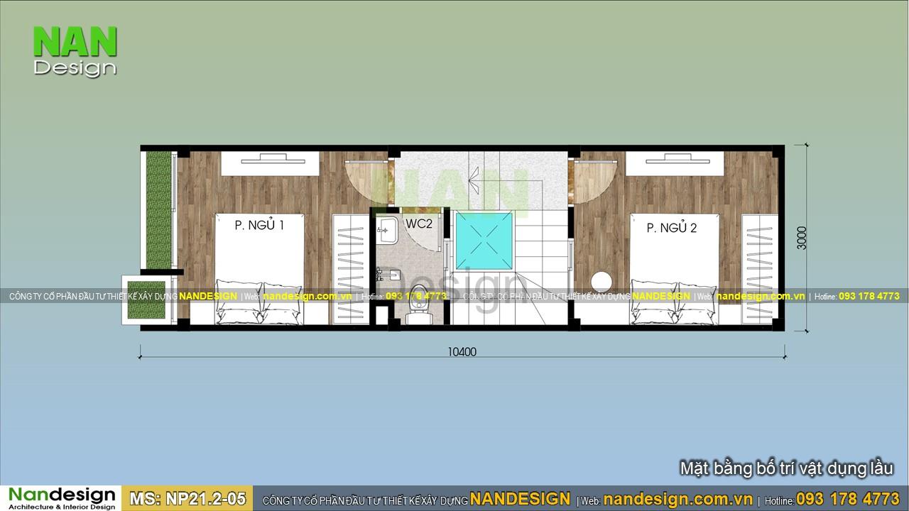 Bản Vẽ Mặt Bằng Tầng Lầu Mẫu Thiết Kế Nhà Đẹp 3x10m