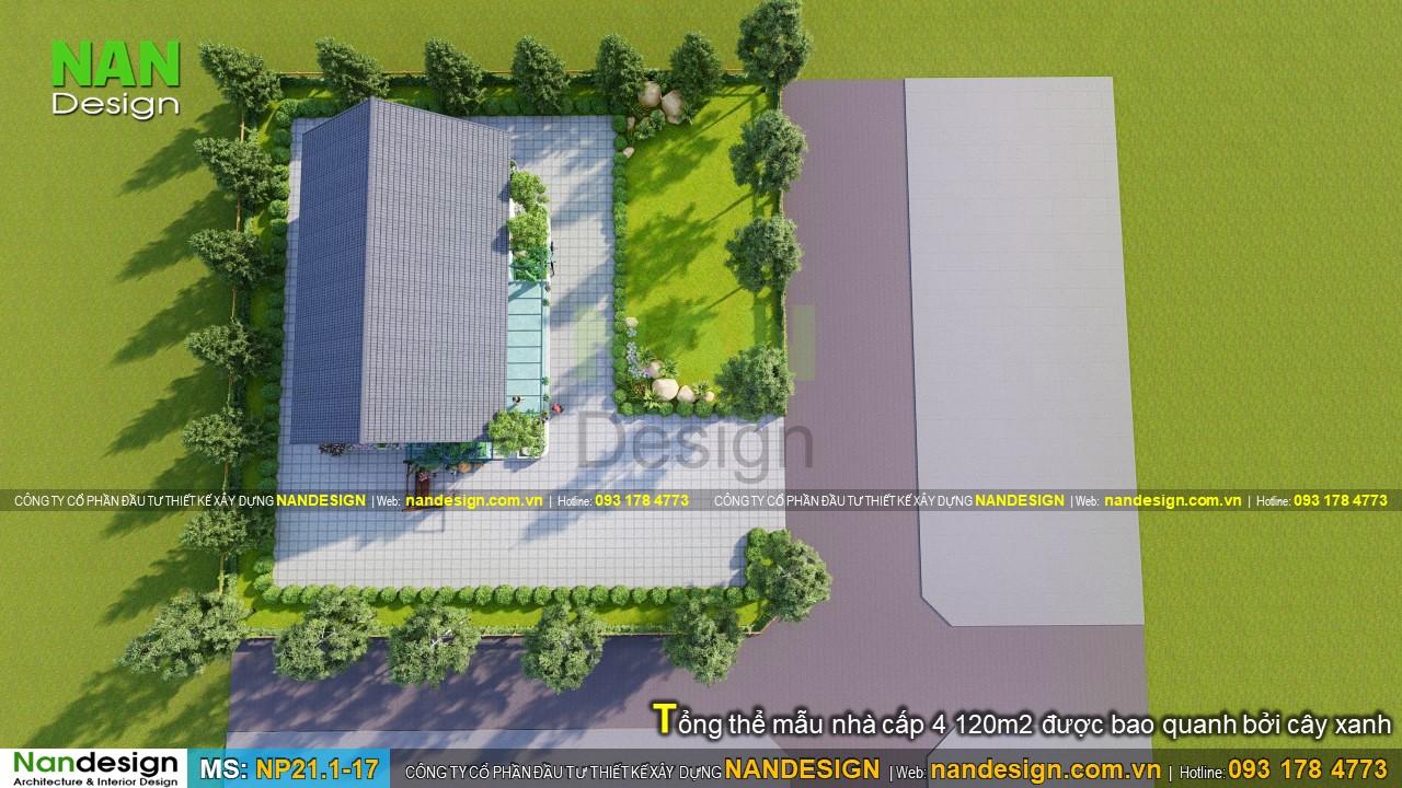 Mặt Bằng Tổng Thể Thiết Kế Nhà Vườn 120m2