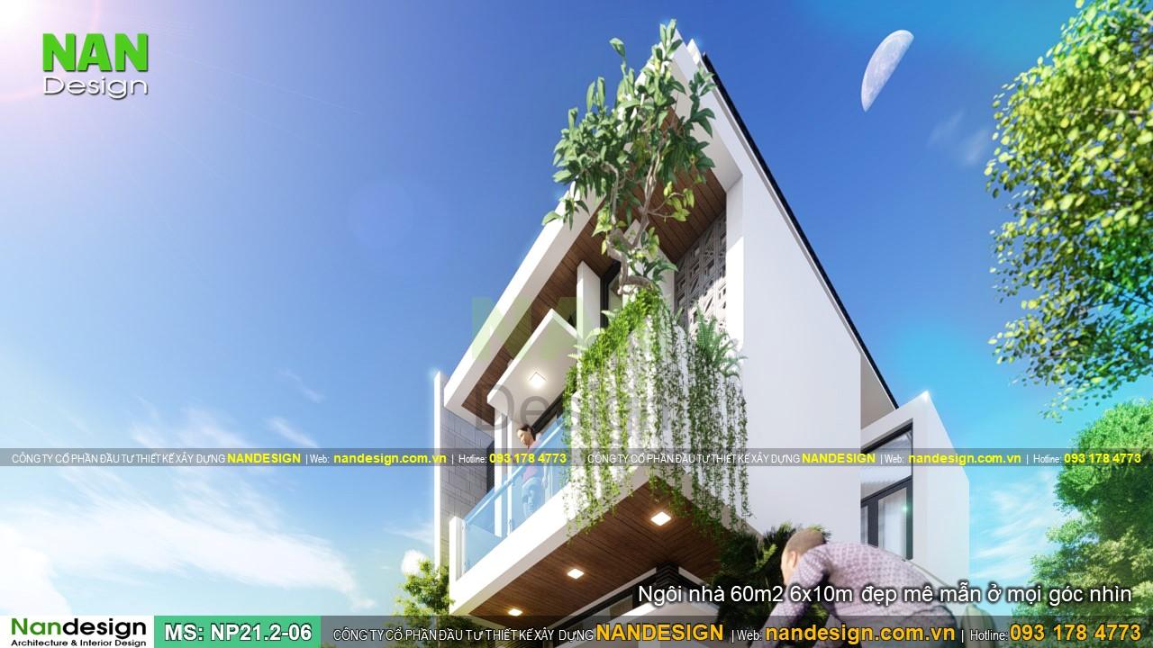 Ngôi Nhà 60m2 6x10 Đẹp Mê Mẫn Ở Mọi Góc Nhìn
