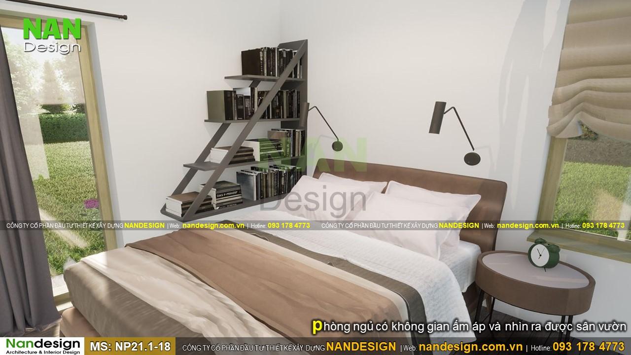 Nhà 6x8m Có Phòng Ngủ Ấm Áp Và Nhìn Ra Được Sân Vườn